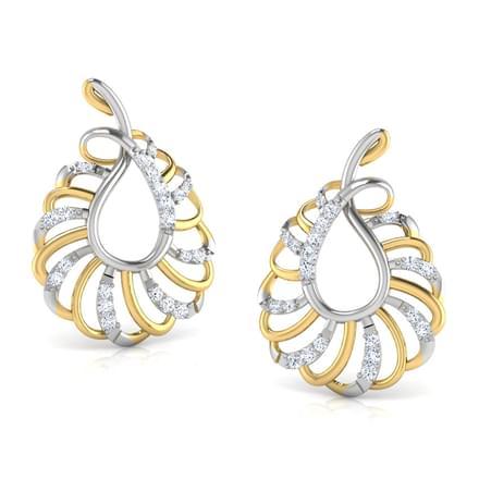 Golden Spark Stud Earrings