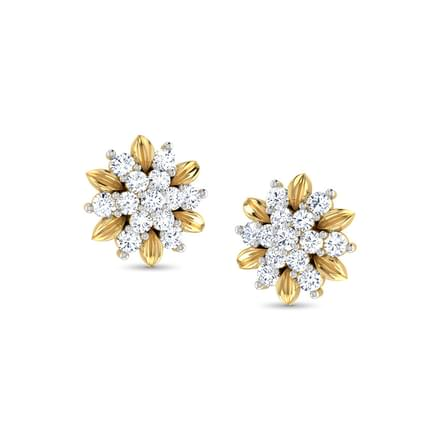 Golden Floret Stud Earrings