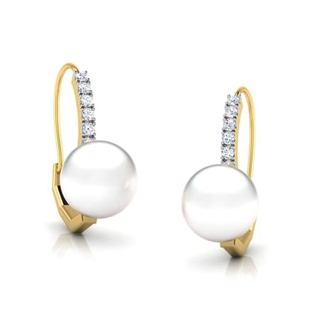 Snow Line Pearl Earrings