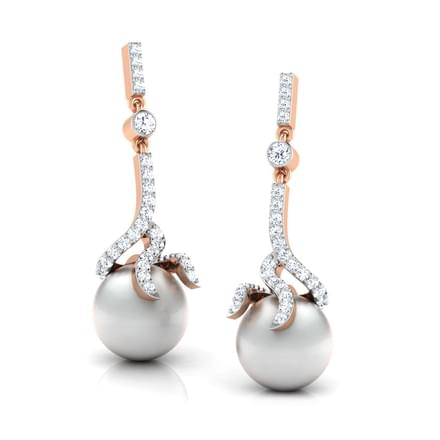 Meander Pearl Earrings