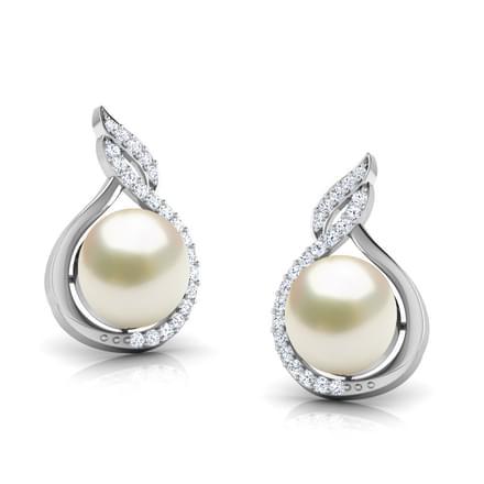 Ice Floe Pear Earrings