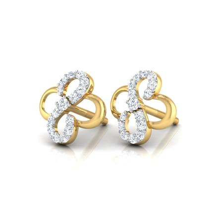 Esme Curved Stud Earrings