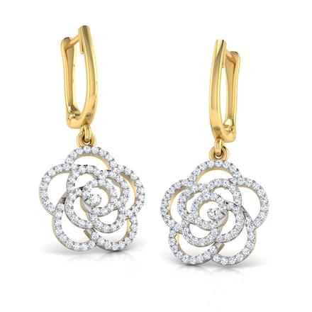 Swirl Flower Drop Earrings