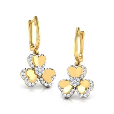 Trio Heart Petal Earrings