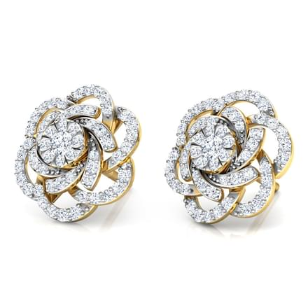 Rose Layered Stud Earrings