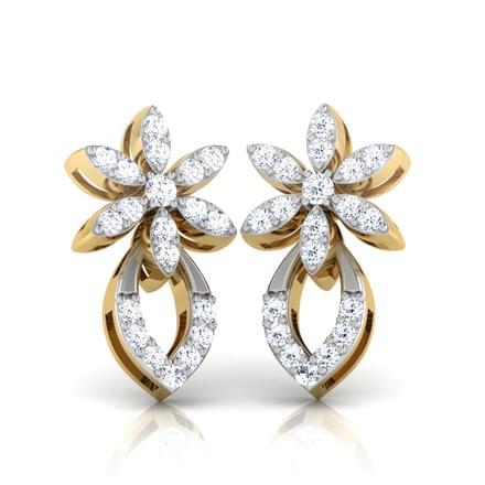 Clematis Stud  Earrings