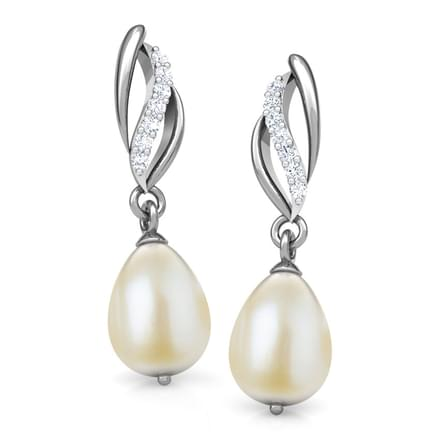 Whirl Pearl earrings