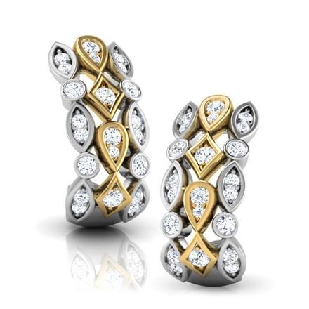 Julia 2-Tone Hoop Earrings