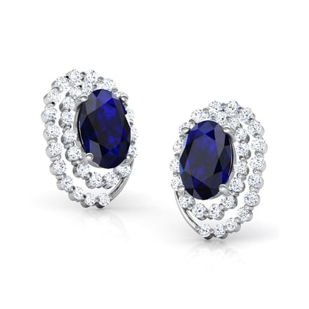 Julia Blue Sapphire Stud Earrings