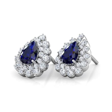 Erin Blue Sapphire Stud Earrings