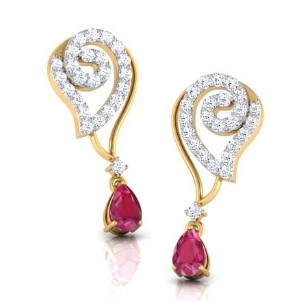 Alma Ruby Drop Earrings