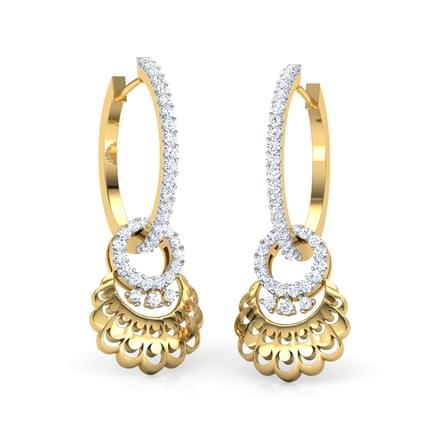 Lyn Petaled Hoop Earrings