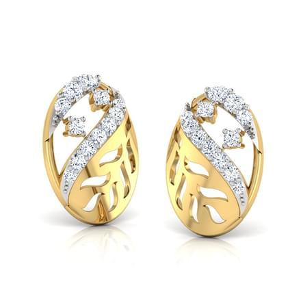 Nia Leaf Cutout Stud Earrings