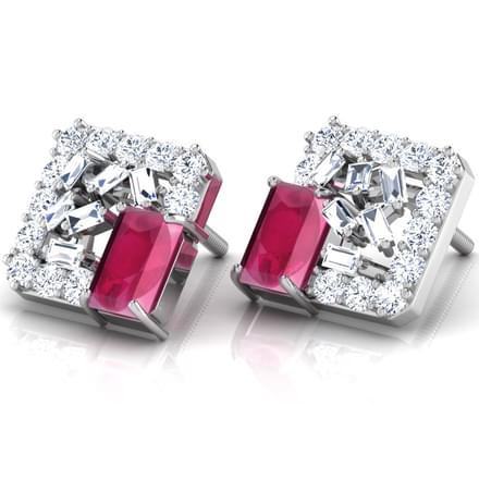 Glitter Sow Stud Earrings