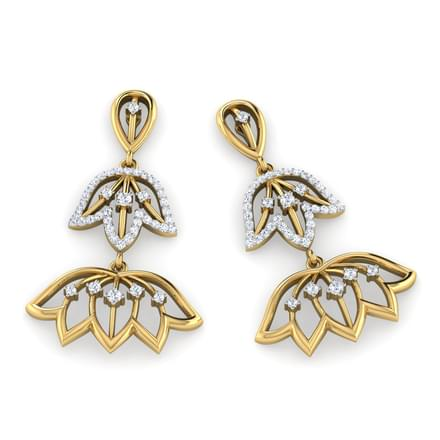 Lotus Cycle Drop Earrings
