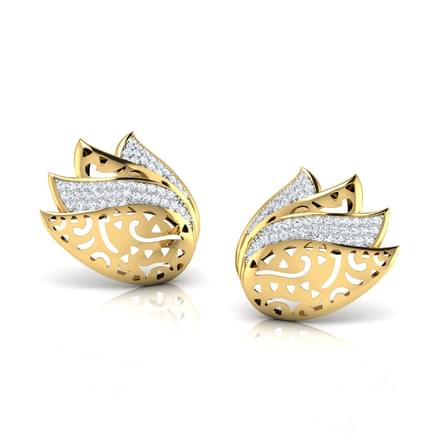 Fanning Petal Lotus Stud Earrings