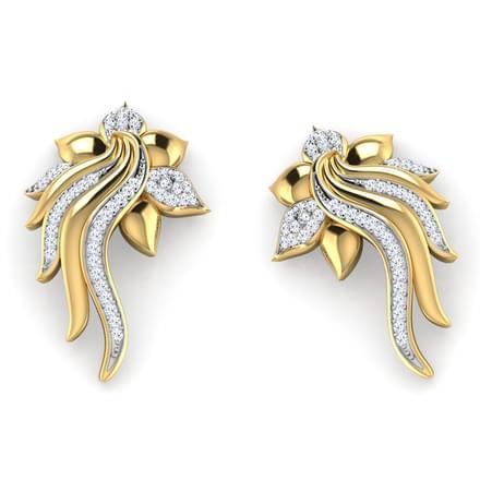 Overlap Petals Lotus Stud Earrings