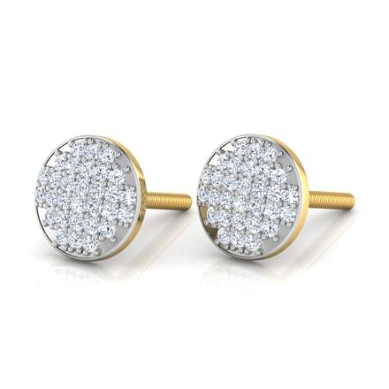 Emma Glitter Button Stud Earrings