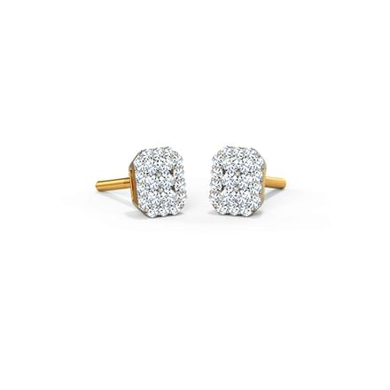 Abigail Octagonal Custer Stud Earrings