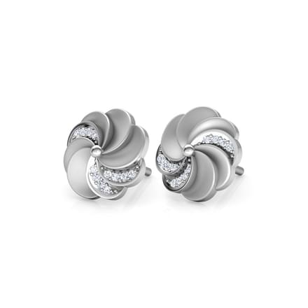 Estella Circular Ripple Stud Earrings