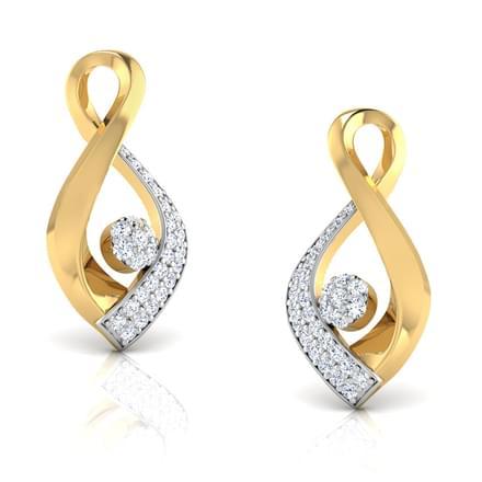 Calla Petalled Stud Earrings