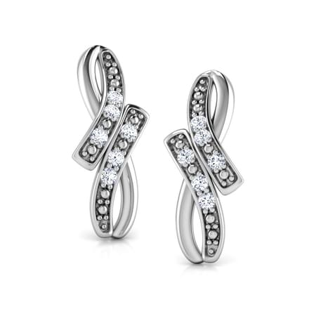 Infinity Arc Stud Earrings