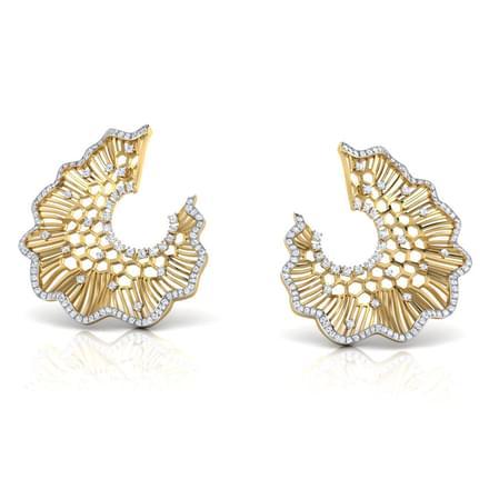 Iona Lotus Leaf Stud Earrings
