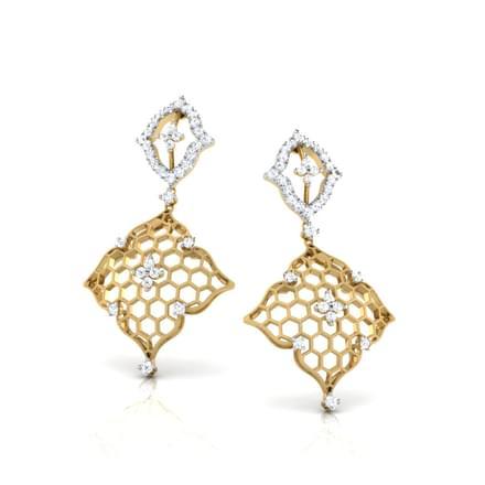 Yani Diamond Wave Drop Earrings