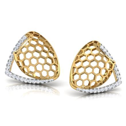 Celia Folded Stud Earrings