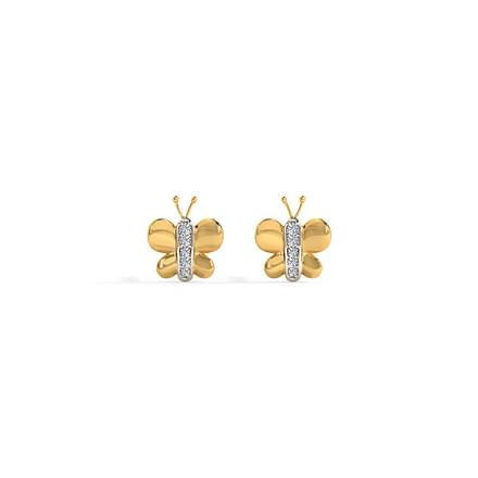 f3a846dfa Tiny Butterfly Stud Earrings Jewellery India Online - CaratLane.com