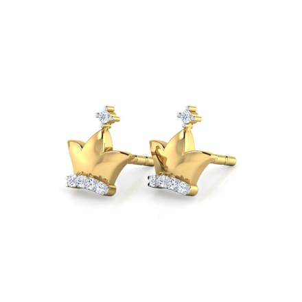 Kour Crown Stud Earrings
