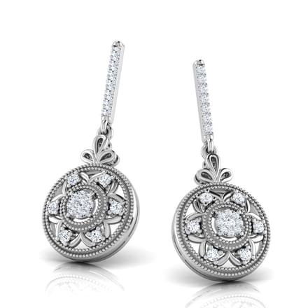 Claire Round Drop Earrings