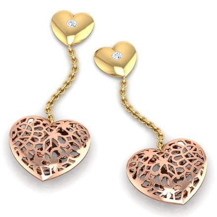 Gail Heart Link Drop Earrings