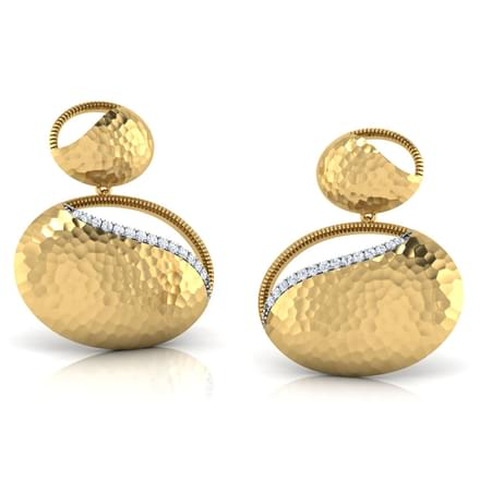 Lorena Hammered Drop Earrings