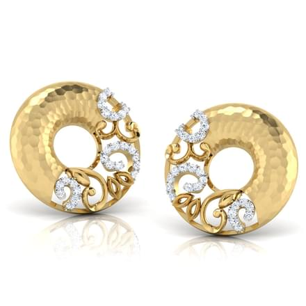 Cora Hammered Stud Earrings