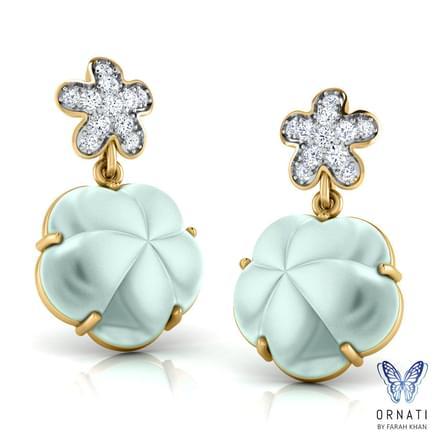 Jeana  Chalcedony Drop Earrings