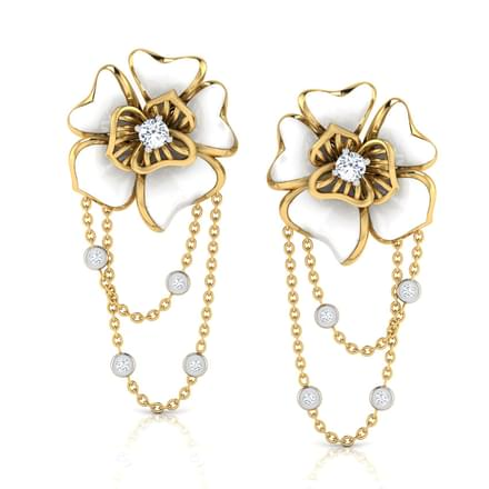 Ava White Rosa Drop Earrings
