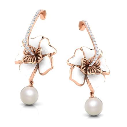 Rosella White Maua Drop Earrings