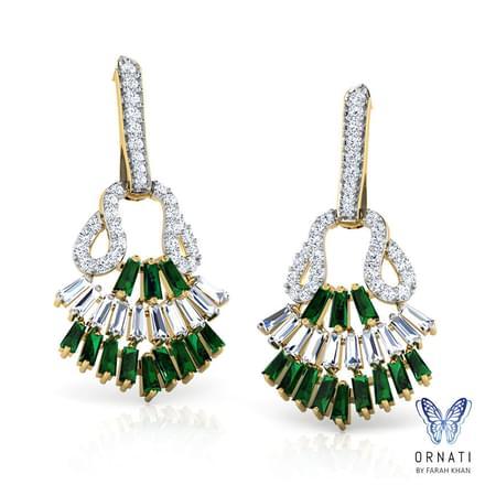 Angela Viridity Drop Earrings