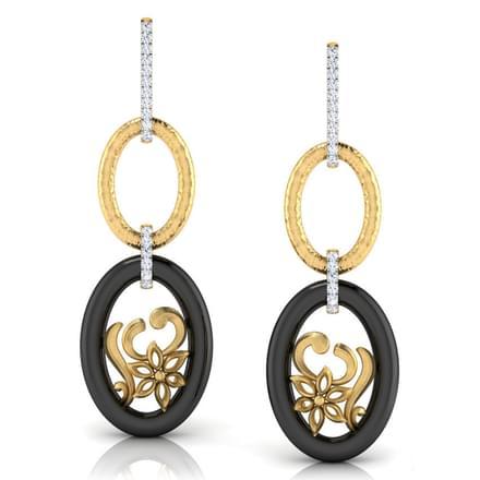 Swirl Link Drop Earrings