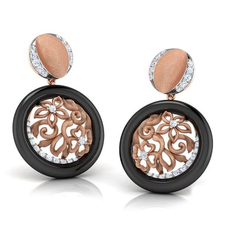 Swirl Shimmer Drop Earrings