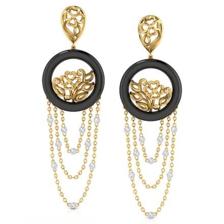 Ruffle Glint Earrings