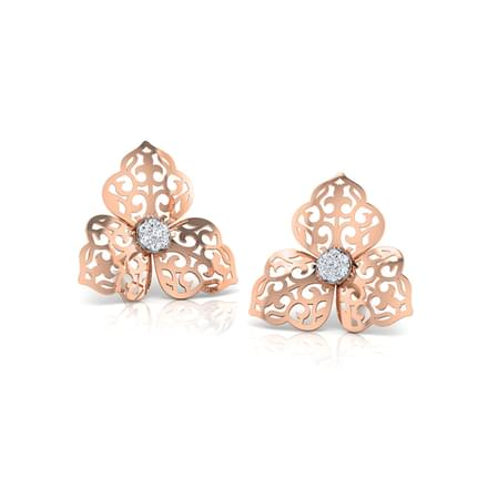 Anna Tri Petal Stud Earrings