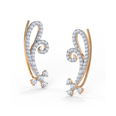 Blush Bara Swirl Ear Cuffs