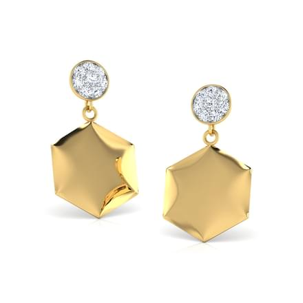 Jacee Stamped Stud Earrings