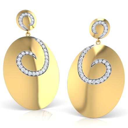 Lecia Stamped Drop Earrings