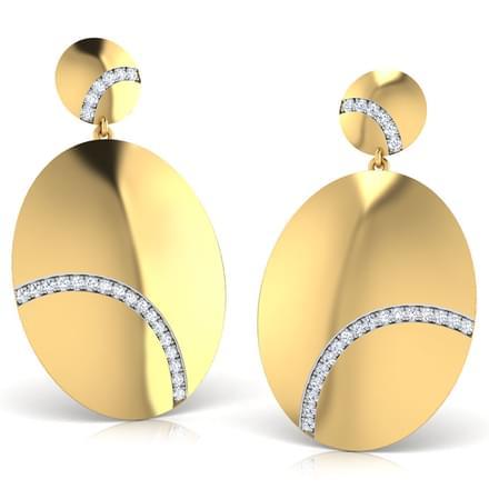 Daina Stamped Drop Earrings