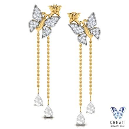 Butterfly Swarm Drop Earrings