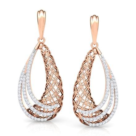 Frill Trellis Drop Earrings