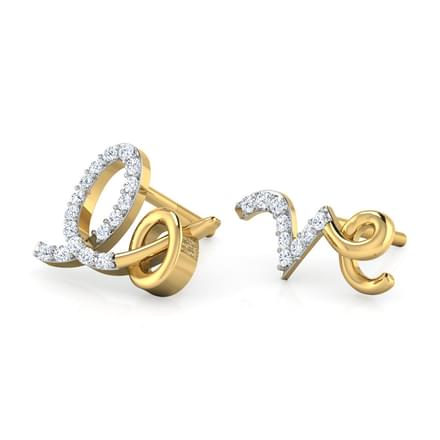 Lo & Ve Mismatched Diamond Stud Earrings